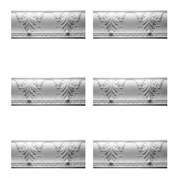 <PRE>Renovator's Supply Cornice White Urethane Autumn Melody Design 6 Pieces Totaling 476.25inch Length</PRE>zoom1