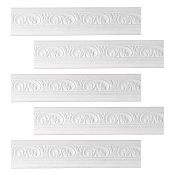 <PRE>Renovator's Supply Cornice White Urethane Donnegal Ornate Design 5 Pieces Totaling 394.375inch Length</PRE>zoom1