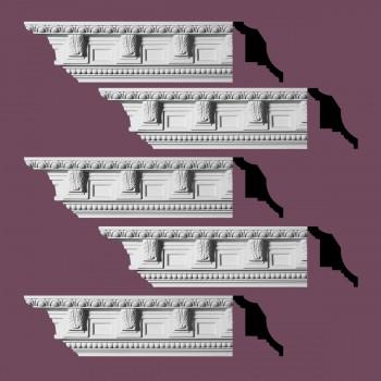 <PRE>Renovator's Supply Ornate Cornice White Urethane Edinburgh Design 5 Pieces Totaling 475inch Length</PRE>zoom2