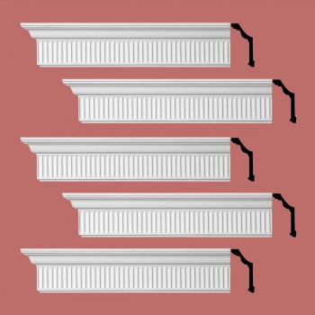 <PRE>Renovator's Supply Ornate Cornice White Urethane Sunderland Design 5 Pieces Totaling 480inch Length</PRE>zoom2