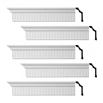Renovators Supply Ornate Cornice White Urethane Sunderland Design 5 Pieces Totaling 480 Length White PrePrimed Urethane Crown Cornice Molding Cornice Crown Home Depot Ekena Millwork Molding Wall Ceiling Corner Cornice Crown Cove Molding