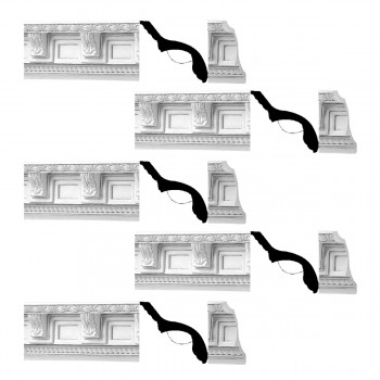 <PRE>Renovator's Supply Cornice White Urethane Greco-roman Ornate  5 Pieces Totaling 384.375inch Length</PRE>zoom1