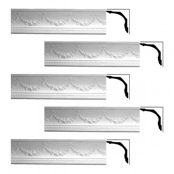 <PRE>Renovator's Supply Ornate Cornice White Urethane Floral Bunting  5 Pieces Totaling 378.75inch Length</PRE>zoom1