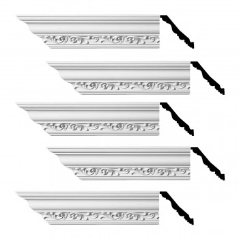 Renovators Supply Ornate Cornice White Urethane Zoe Design 5 Pieces Totaling 470 Length White PrePrimed Urethane Crown Cornice Molding Cornice Crown Home Depot Ekena Millwork Molding Wall Ceiling Corner Cornice Crown Cove Molding