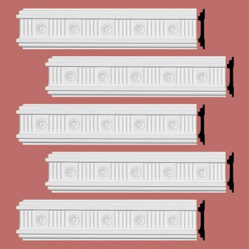 <PRE>Renovator's Supply Crown Molding White Urethane Westchester Ornate  5 Pieces Totaling 480inch Length</PRE>zoom2