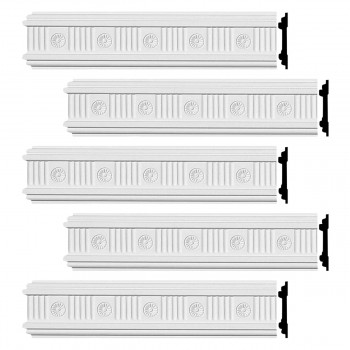 <PRE>Renovator's Supply Crown Molding White Urethane Westchester Ornate  5 Pieces Totaling 480inch Length</PRE>zoom1