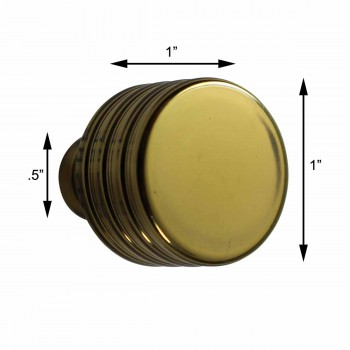 "spec-<PRE>Cabinet Knobs Bright Solid Brass Drum Knob 1"" </PRE>"