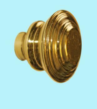 <PRE>Cabinet Knob Brass Double Flare 1 1/4inch Dia </PRE>zoom2