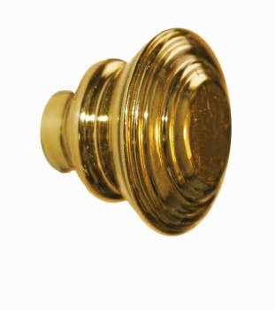Cabinet Knob Brass Double Flare 1 1/4