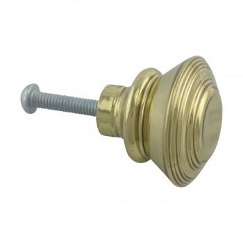 <PRE>Cabinet Knob Classic Brass 1inch Dia </PRE>zoom6