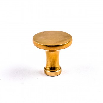 Cabinet Knob Bright Solid Brass Pedestal 1 14 Cabinet Hardware Cabinet Knobs Cabinet Knob