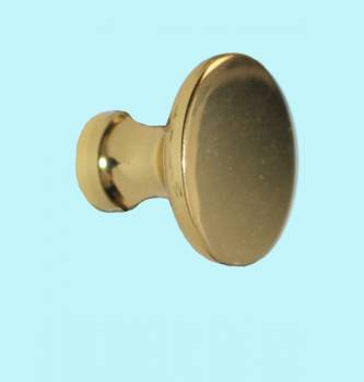 <PRE>Cabinet Knob Bright Solid Brass Traditional 1inch Dia </PRE>zoom2