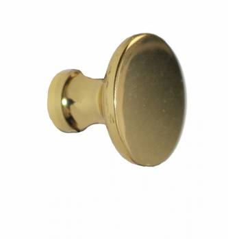 <PRE>Cabinet Knob Bright Solid Brass Traditional 1inch Dia </PRE>zoom1
