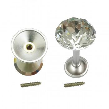 <PRE>2 Glass Curtain Tieback Holders Satin Nickel Finish 40MM </PRE>zoom6