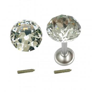 <PRE>2 Glass Curtain Tieback Holders Satin Nickel Finish 40MM </PRE>zoom7