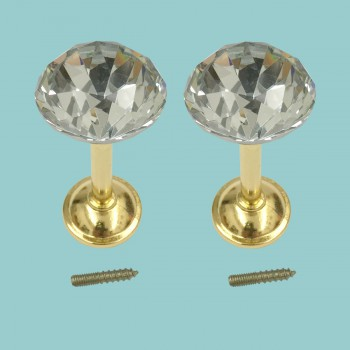 <PRE>2 Glass Curtain Tieback Holders  Brass Finish 40MM 1 Pair </PRE>zoom2