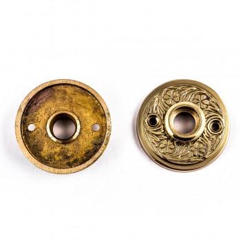 <PRE>Pair 2inch Victorian Cast Brass Rosette </PRE>zoom6