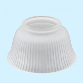 <PRE>Lamp Shade White Glass Traditional 3 5/8&quot; H x 4&quot; Fitter </PRE>
