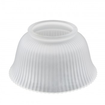 Lamp Shade White Glass Traditional 3 58 H x 4 Fitter