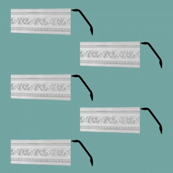 Renovators Supply Cornice White Urethane Garden Ornate Design 5 Pieces Totaling 394.375 Length White PrePrimed Urethane Crown Cornice Molding Cornice Crown Home Depot Ekena Millwork Molding Wall Ceiling Corner Cornice Crown Cove Molding