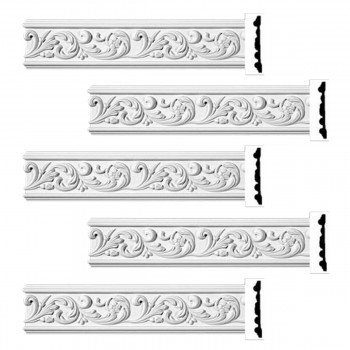 <PRE>Renovator's Supply Ornate Crown Molding White Urethane Kenmorer Design 5 Pieces Totaling 480inch Length</PRE>zoom1
