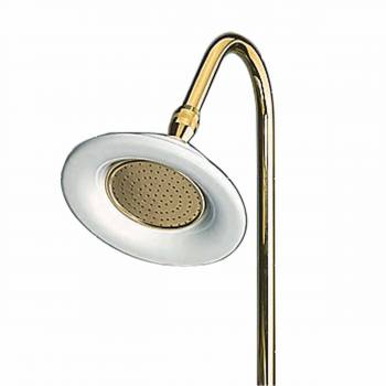Shower Head Bright Solid Brass 6.5D Showerhead Only Shower Head Shower Heads Bath Shower Head