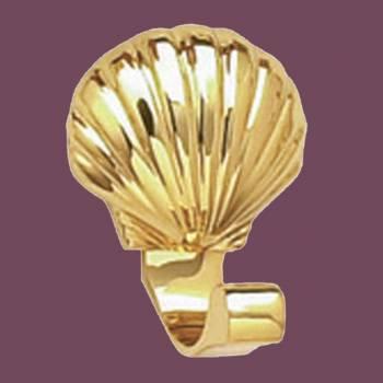 <PRE>Brass Robe Hook Sea Crest </PRE>zoom2
