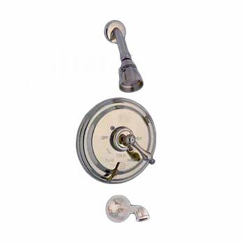 Heavy Brass Shower Tub Faucet Mixer 1 Handle Valve 98948grid