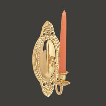 <PRE>Victorian Vintage Brass Wall Sconce Candle Holder </PRE>