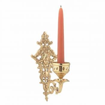 Vintage Brass Wall Sconce Medusa Candle Holder