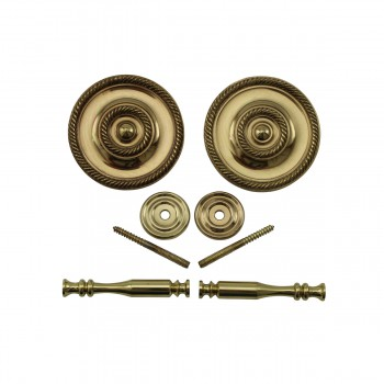 <PRE>2 Solid Brass Curtain Tieback Holders RSF Finish 3-1/4inch Dia. Renovator's Supply</PRE>zoom8