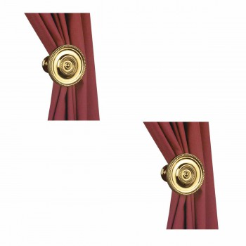 2 Solid Brass Curtain Tieback Holders RSF Finish 3-1/4