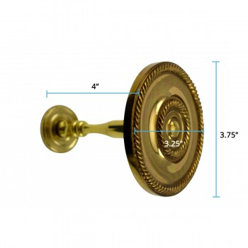 "spec-<PRE>2 Solid Brass Curtain Tieback Holders RSF Finish 3-1/4"" Dia. Renovator's Supply</PRE>"