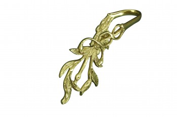 <PRE>Vintage Pair Vine Curtain Tie Back Holder Bright Brass One up One Down</PRE>zoom4