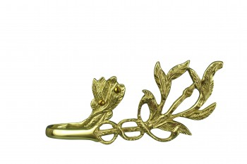 <PRE>Vintage Pair Vine Curtain Tie Back Holder Bright Brass One up One Down</PRE>zoom5