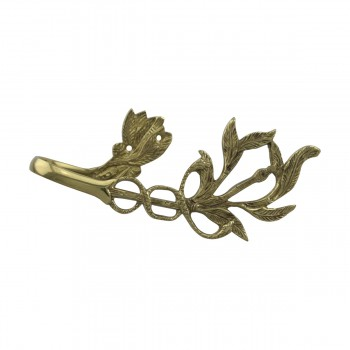 <PRE>Vintage Pair Vine Curtain Tie Back Holder Bright Brass One up One Down</PRE>zoom8