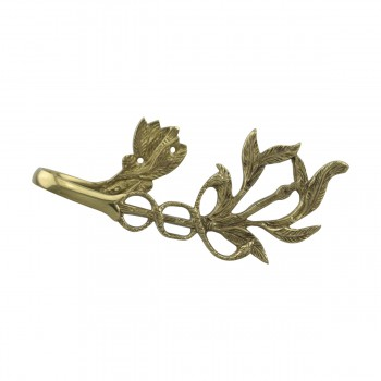 <PRE>Vintage Pair Vine Curtain Tie Back Holder Bright Brass One up One Down</PRE>zoom11