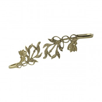 <PRE>Vintage Pair Vine Curtain Tie Back Holder Bright Brass One up One Down</PRE>zoom12