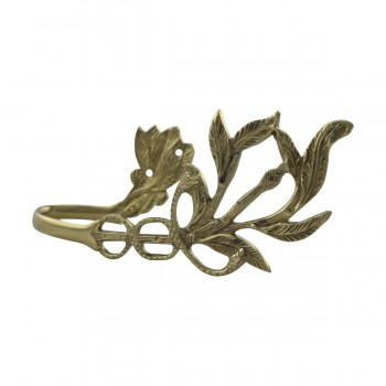 <PRE>Vintage Pair Vine Curtain Tie Back Holder Bright Brass One up One Down</PRE>zoom15