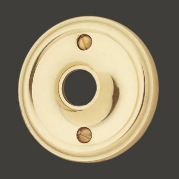 <PRE>Pair Classic Rosette Bright Solid Brass 2 1/2inch Passage Knob </PRE>zoom2
