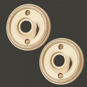 <PRE>Antique Style Bright Brass Rosette Roped Design 2-1/2 in. Set of 2</PRE>zoom2