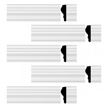 <PRE>Renovator's Supply Chair Rail White Urethane Molding Railing Design 5 Pieces Totaling 485inch Length</PRE>zoom1