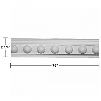 "spec-<PRE> Cornice White Urethane Fris Ornate Design 5 Pieces Totaling 395"" Length</PRE>"