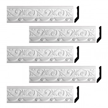 <PRE>Renovator's Supply Cornice White Urethane Letreamont Ornate Design 5 Pieces Totaling 413.75inch Length</PRE>zoom1