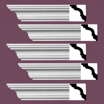 <PRE>Renovator's Supply Cornice White Urethane Wellesley Design 5 Pieces Totaling 470inch Length</PRE>zoom2