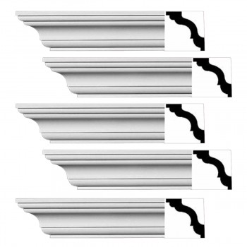<PRE>Renovator's Supply Cornice White Urethane Wellesley Design 5 Pieces Totaling 470inch Length</PRE>zoom1
