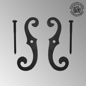 spec-<PRE>Cast Iron Window Shutter Dogs (Pair) Vintage Style 6-1/2&quot; H x 2-1/4&quot; W</PRE>