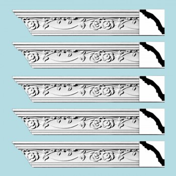 <PRE>Renovator's Supply Ornate Cornice White Urethane Huntington Design 5 Pieces Totaling 470inch Length</PRE>zoom2