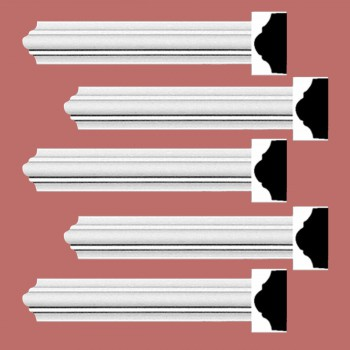 Renovators Supply Cornice White Urethane Simple Design 5 Pieces Totaling 475 Length White PrePrimed Urethane Crown Cornice Molding Cornice Crown Home Depot Ekena Millwork Molding Wall Ceiling Corner Cornice Crown Cove Molding