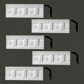 <PRE>Renovator's Supply Cornice White Urethane Tyrese Ornate Design 5 Pieces Totaling 373.75inch Length</PRE>zoom2